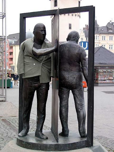 Mann in Drehtür, Man in Revolving Door by Waldemar Otto, Frankfurt am Main