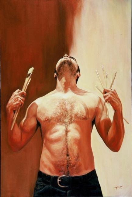 Dolor. Óleo sobre tela. Ignacio Rojas, Melbourne 2008.
