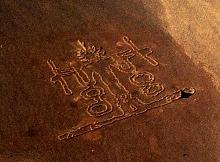 Los Ancestros, obra de arte de la tierra. Andrew Rogers, 2004. Desierto de Atacama, Chile.