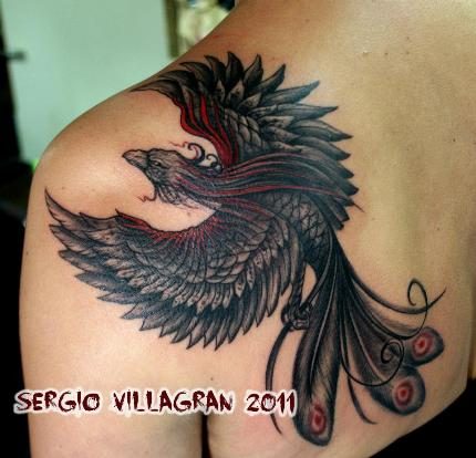 Águila - tatuaje por Sergio Villagrán