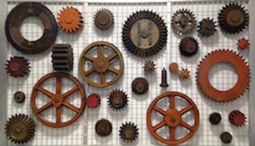 Colección de piezas de locomotora, parte de la colección de Tharsis. Foto: http://eiffellab.com