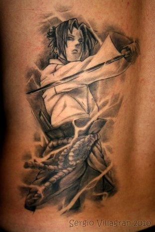 Guerrero estilo japonés - tatuaje por Sergio Villagrán