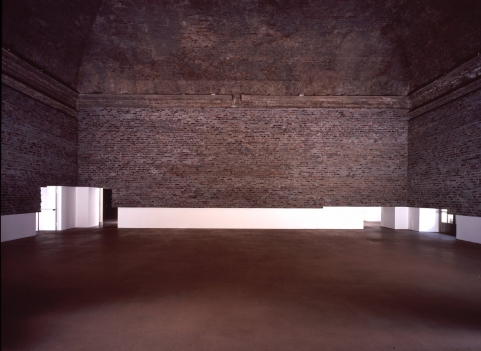 Abyss (Castello di Rivoli, Italy) 2005 545 11/16 x 639 3/8 x 16 1/8 in. (1386 x 1624 x 41 cm) Brick, cement, steel and epoxy resin Photo: Paolo Pellion, Torina