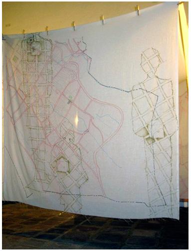 Desdibujando-y-redibujando-Paisajes_Instalación_Patricia Lara_2011_2