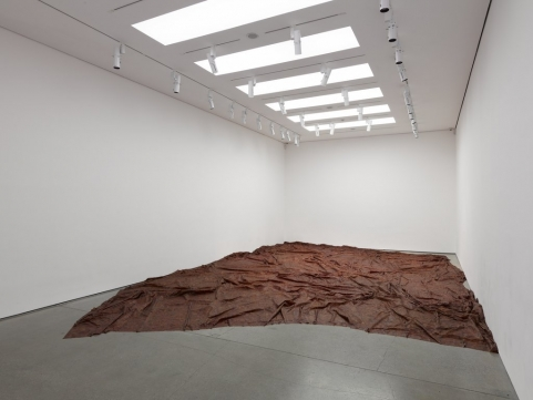 A Flor de Piel, 2011 – 2012, Dimensions variable. Rose petals and thread Photo: Ben Westoby http://whitecube.com/exhibitions/doris_salcedo_masons_yard_2012/